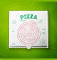 cardboard box with pizza mashroom vector image vector image