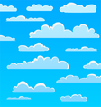 Cartoon Cloud Pattern vector image