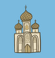 christian church icon hand drawn style vector image