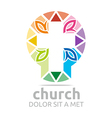 chruch croos christian icon symbol abstract vector image