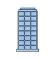 city building structure business or residence vector image