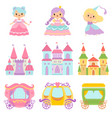 collection cute little princesses magic vector image vector image