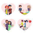 couples in love happiness vector image