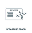 departure board icon outline thin line style from vector image vector image
