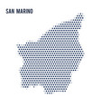 dotted map of san marino isolated on white vector image vector image