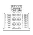 five star hotel icon vector image
