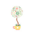 flowering bonsai crown tree made floral vector image