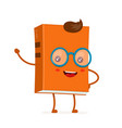 funny happy cute smiling hipster book vector image vector image