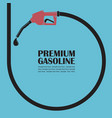 gas station poster vector image vector image