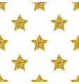 golden glitter stars white seamless pattern vector image