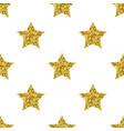 golden glitter stars white seamless pattern vector image vector image