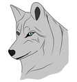 Grey wolf the Wolf good wolf vector image vector image