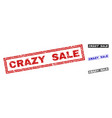 grunge crazy sale scratched rectangle watermarks vector image vector image