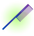 hair comb vector image vector image