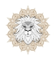 hand drawn entangle ornamental lion on mehendi vector image vector image