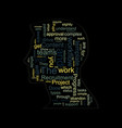 head silhouette made of words vector image