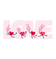 heart character with foam hand prop vector image