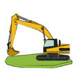 heavy machinery construction icon image vector image vector image
