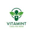 herbal medicine or supplement logo vector image vector image