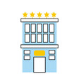 hotel building with five stars vector image