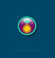 icon medal award medal vector image