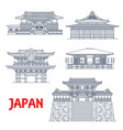 japan temples japanese pagoda buildings vector image vector image
