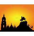 kiev sophia square silhouette vector image vector image