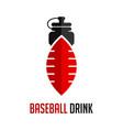 logo baseball sports drinks vector image
