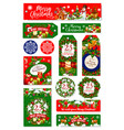 merry christmas holiday wish greeting cards vector image vector image