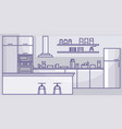 modern kitchen interior home indoors kitchen vector image