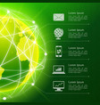 Network green background vector image vector image
