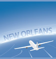new orleans flight destination vector image vector image
