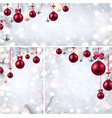 new year backgrounds with pink christmas balls vector image vector image