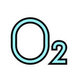 o2 oxygen color icon vector image vector image