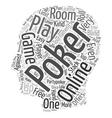 online poker text background wordcloud concept vector image vector image