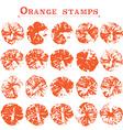 Orange stamps vector image