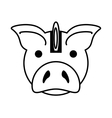 piggy savings with coin isolated icon vector image vector image