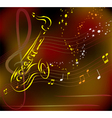 saxophone on abstract background vector image