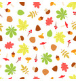 seamless pattern with fall season objects vector image vector image