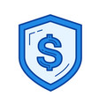 secure money line icon vector image