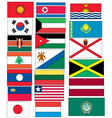 set 20 flags countries started with j k l vector image