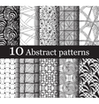 set of 10 seamless abstract patterns vector image