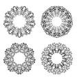 set of beautiful deco mandala round ornament vector image