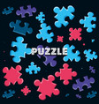 set of puzzle pieces pattern vector image