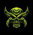 skull green head vector image