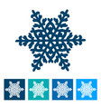snowflake new year icon vector image vector image