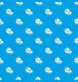 steak pattern seamless blue vector image vector image