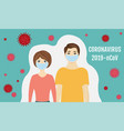 stop coronavirus poster isolated green background vector image vector image
