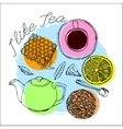 Tea time concept vector image vector image