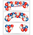Three Independence Day banners vector image